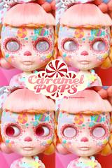 Caramelpops Candievera SugarDrops ( Caramelaw ) Tags: pink cute skulls skull doll dolls candy sweet ooak sugar lolita pullip blythe custom sugarskulls calavera candyskulls caramelpops caramelaw