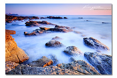 Noosa Dreaming ([ Kane ]) Tags: ocean pink light sky seascape colour landscape photography dawn rocks waves dream australia brisbane qld queensland noosa sunshinecoast jamesdean noosaheads watrer kanegledhill wwwkanegledhillcomau