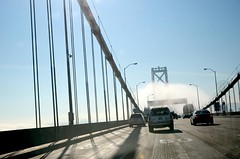 I have so much to learn (mrperry) Tags: sf sanfrancisco sky tower cars shadows traffic cables baybridge suspensionbridge 50mph baybridgefog crossingthebay baybridgeanchorage roadway|