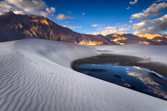 Himalayan Sands (hillsee) Tags: clouds reflections sand desert dune footprints ripples himalaya ladakh highaltitude nubra goldcollection