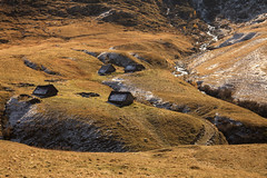 huts (crazyhorse_mk) Tags: autumn brown france alps cold nature creek landscape frost meadow huts valley savoie whitefrost rhonealpes coldelacroixdefer colduglandon
