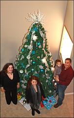 (K. Sawyer Photography) Tags: christmas family boy portrait woman holiday man tree girl scarf kid child christmastree teen gifts presents teenager