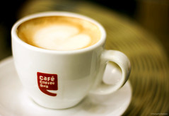 Cafe Coffee Day! (Prashanthe) Tags: morning love cup coffee hub 50mm cafe friendship ccd coffeetable goodmorning refresh coffeeart cafecoffeeday indiranagar cupofcofee freshmorning canon550d