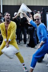 Pajama Pillow Fight (naturalturn) Tags: sanfrancisco california usa man men costume fight couple fighter battle pillows pillow fighters pillowfight decompression pajama dogpatch 2011 image:rating=5 decompression2011 image:id=123161