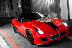 47th. (Alex Penfold) Tags: auto camera red black london cars alex sports car sport mobile canon photography eos photo cool flickr image stripes awesome flash picture super ferrari spot harrods knightsbridge exotic photograph eod spotted hyper gto carpark supercar spotting exotica sportscar sportscars supercars penfold 599 spotter 2011 hypercar 60d hypercars lj11 alexpenfold lj11eod