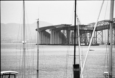 img833 (bunn) Tags: film rain 35mm viaduct baybridge sanfranciscobay kodaktrix400 canoneos1v canonef400mmf56lusm canoneos1vthefordcrownvictoriaofcameras sfbayintherain