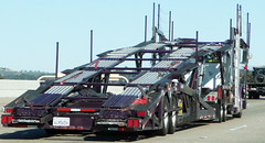 Car Carrier Truck (Photo Nut 2011) Tags: california truck freeway carcarrier autocarrier autotransporter deluxeautocarrier