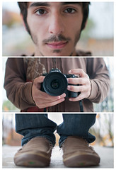 Self Tryptic (AnthonyTulliani) Tags: camera feet face self hands head tryptic