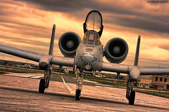 Warthog (~Clubber~) Tags: airplane flying taxi aircraft aviation military flight jet airforce hog usaf warthog a10 thunderboltii