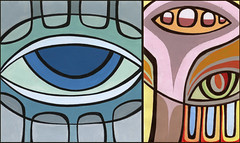 Color Study - Diptych (_Booka B_) Tags: color eyes paint acrylic twincities saintpaul mn bookab