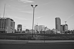 B&W Abandoned Lot - Atlantic City, NJ (ChrisGoldNY) Tags: city urban blackandwhite bw abandoned architecture america blackwhite newjersey forsale decay nj lot dirt posters atlanticcity jersey ac jerseyshore bookcovers albumcovers jerze chrisgoldny chrisgoldberg chrisgold chrisgoldphotos