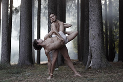 Apollo and Daphne (IrinaMattioli) Tags: portrait woods ale dancer francesco bosco cignonero apolloanddaphne irinamattioli