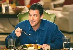 Adam Sandler (Gemts) Tags: family food house cinema man home shirt dinner movie still chair funny comedy sister eating twin scene american actor trailer flick adamsandler jackandjill 2011