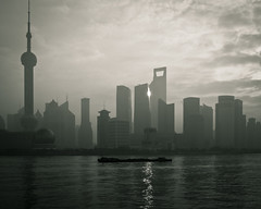 View on Pudong (Jpierrel) Tags: china pen shanghai olympus pudong bund chine 17mm epl1