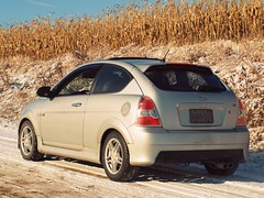 Winter Tires FTW (MSVG) Tags: ontario canada hyundai sr accent 2007 egbert cookstown