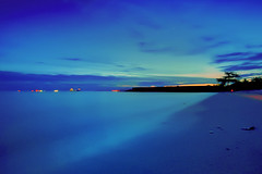 #850C8210- Blue Sea and Blue Sky (Zoemies...) Tags: blue sunset sea sky beach balikpapan melawai zoemies