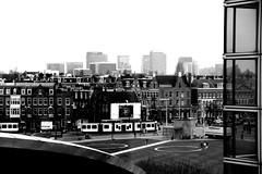 amsterdam skyline (wojofoto) Tags: bw amsterdam skyline museumplein vangoghmuseum zw stadsarchief wojofoto