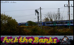FUCK THE BANKS FREEHAND GNASHER SOUTH TOTTENHAM...2011... (Graffiti Junkie) Tags: street city streetart black london art bench photography gold graffiti hall photo nikon montana paint king all south fame can spray kings 94 hardcore vandal writers vandalism mtn writer halloffame hunter spraypaint freehand graff junkie spraycan tottenham gnasher the allcity thebench ldn montanagold montanablack montanahardcore of graffitihunter montana94 arthunter graffhunter graffitijunkie streetarthunter