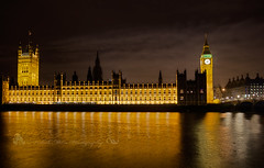 Big Ben and the Houses of Parliament (palashmitter) Tags: uk london thames architecture night housesofparliament bigben hdr
