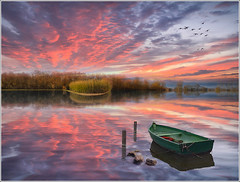 Explosion (Jean-Michel Priaux) Tags: sunset sky lake france nature water clouds photoshop plane painting landscape boat flooding niceshot flood dream lac reflet reflect alsace swamp marsh paysage hdr barque plaine pche rve ried inondations marcages marcage priaux mygearandme