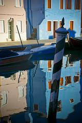 Fabulous Reflections (RachaelMc) Tags: travel blue venice houses winter sky italy color colour tourism water buildings reflections island reflecting interesting colorful italia vibrant colourful venise venezia venedig burano travelphotography rachaelmc rjmcdiarmid