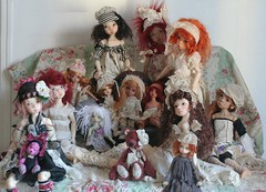 nos kayes wiggs toutes reunies (heliantas) Tags: doll dolls kim buried bjd dust dim chateau kaye oblivion zun lasher wiggs larina martipresents lillycats