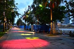 Flood Lights (chooyutshing) Tags: celebration floodlights marinabay esplanadepromenade singaporecountdown 20112012