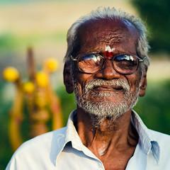 Faith !!! (Rakesh JV) Tags: street old portrait india man square temple photography glasses town nikon indian faith ngc 85mm frame nikkor f18 chennai tamil jv nadu rakesh cwc thiruneermalai d7000 chennaiweekendclickers