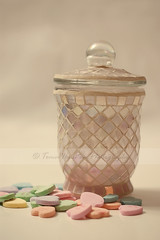 DSC01321-W (makeupmasala) Tags: pink love vintage hearts candy romance jar romantic mosiac valentinesday lid