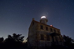 East Point Lighthouse Meteor (Jack Fusco) Tags: longexposure night river stars shower newjersey maurice nj astrophotography meteor nationalgeographic lightpollution natgeo meteorshower news12 eastpointlighthouse january4th quadrantids jackfusco wwwjackfuscocom newjerseynews spacepicturesthisweek