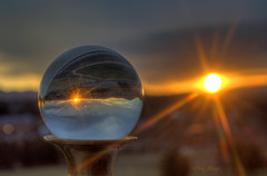 Sunset Gazes Into The Crystal Ball - Roanoke (Terry Aldhizer) Tags: sunset sky usa sun ball virginia roanoke terry looks brass hdr candlestick crystall aldhizer terryaldhizer terryaldhizercom