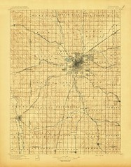 Lincoln, Nebraska Quadrangle Topographic Map, 1897 (thornydalemapco) Tags: germantown historic crete raymond panama bennett waverly roca cortland firth davey sprague hickman rokeby pleasantdale