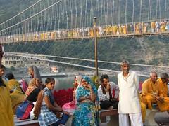 Rishikesh, Uttarakhand, India (east med wanderer) Tags: india uttarakhand uttaranchal rishikesh swargashram ramjhulabridge visitors pilgrims hinduism theindiatree worldtrekker bridge river ganges