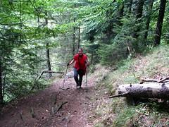 Emma-Jane on the Zarnesti Horseshoe walk (Tim R-T-C) Tags: holiday trekking hiking romania carpathians emmajane zarnesti piatracraiului carpathia braşov carpathianmountains keadventure southerncarpathians piatracraiuluinationalpark transylvaniatraverse zarnestihorseshoe parculnaţionalpiatracraiului zarnestigorge