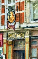 The Punch Tavern, 99 Fleet Street, London (Steve Taylor (Photography)) Tags: uk 2 england food london art beer beautiful sign vintage gold restaurant bride britain famous 19thcentury 99 ii lane tavern gb historical british features punch fleet goldmedal listed punchandjudy ln ec4 publichouse punchtavern ststreet 1de innpub ec4y historygrade guildoffinefood