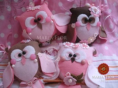 Pingentes de Corujitas (mariafloratelier2) Tags: bird heart felt owl corao coruja feltro heartfelt lavanda piupiu sach corujita