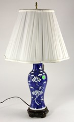 69. Chinese Blue Glazed Porcelain Lamp