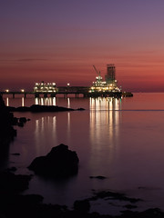 (alancowper) Tags: morning light seascape sunrise point landscape scotland long exposure industrial fife low olympus terminal forth oil 45mm firth gloaming ep3 braefoot