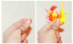 15/366-Snap to It (shuweet.) Tags: fire hands diptych snapping fingers snap ring 365 sparks spark firespark heartring day15of365 shuweet snaptoit dayfifteenofthreesixfive
