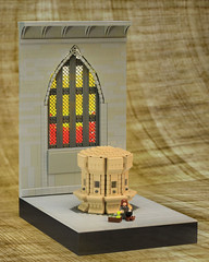 Moaning Myrtles Bathroom (Carson Hart) Tags: sunset brick glass carson bathroom photography arch lego harry potter scene stained chamber hart secrets diorama hermione granger potion moc polyjuice