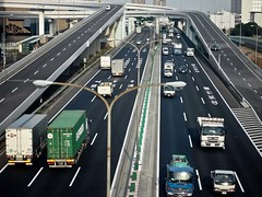 Flowing Smoothly .. (708718) Tags: japan tokyo highway asia traffic skateboarding odaiba trucks charleslamb ianreid