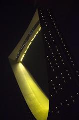 THE KINGDOM OR ALMAMLAKA CENTER (SAUD ALRSHIAD 2  ) Tags: bridge light sky lines yellow night composition corner landscape photography nikon ngc center line saudi arabia curve riyadh 2012 landscap ksa saud saudia yalow riydh greatphotographers  almamlaka   flickraward arabin d7000  nikonflickraward nikond7000  almamlakacenter httpwwwkingdomcentrecomsa