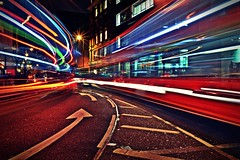 ________v________ (Dorian_TxT) Tags: red urban streets bus london way lights nikon long exposure colours shot d great trails explore rails 3100 ringexcellence dblringexcellence