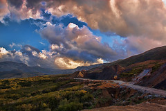 Mountains (Theophilos) Tags: road sky mountains nature beautiful clouds crete rethymno