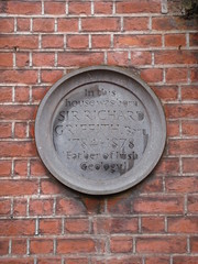 Photo of Richard Griffith stone plaque