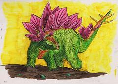Curious Shell (Jim_V) Tags: sketch dinosaur doodle stegosaurus brushpen dippen nibpen
