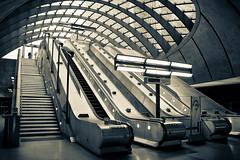 Canary Wharf (Jonathan.Russell) Tags: light building glass station architecture canon underground lens mac escalator tube johnson railway business wharf docklands kit canary 18 55 tone dlr lightroom tfl borris lodnon 40d