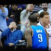 Blue sweater with the great reaction to Blake Griffins dunk over KENDRICK PERKINS.