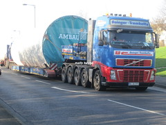 HEAVY HAULAGE & ABNORMAL LOAD ESCORTING (mallyhayne) Tags: volvo heavy windturbine haulage convoi worldtruck