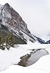 Lake Louise #11-4 (PhotoImpulse) Tags: travel winter vacation snow canada mountains cold tourism ice nature sport reflections river landscape fun rockies outdoors hope nationalpark spring holidays natural hiking joy scenic ground hike climbing alberta banff streams peaks lakelouise canyons iceclimbing retirement hicking siteseeing wintersports travelphotography desitnation daywithroyandersen